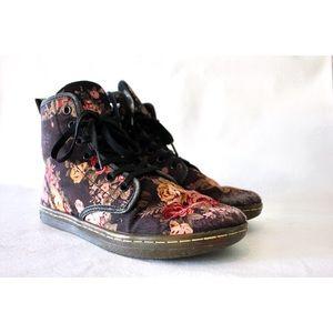 Dr. Martens Shoes - Doc Martens Shoreditch Floral Print Sneaker Boot